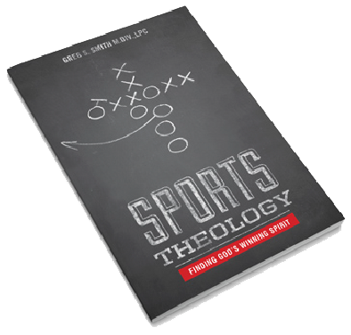 "Cover photo of the book ""Sports Theology - Finding God's Winning Spirit"""